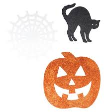 Halloween Cut Outs Glitter Halloween Paper Cutouts Halloween Party Decorations