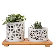 Succulent Planters For Sale by On Sale Mkono Hollow Ceramic Succulent Planters Small Plant Pots