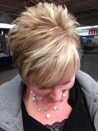 chunky short haircuts chunky blonde highlights for short hair google search