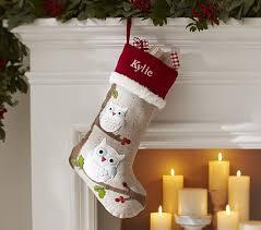 christmas stockings sale owl woodland stocking pottery barn kids christmas pinterest