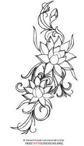 23 best flower outline tattoo designs images on pinterest flower
