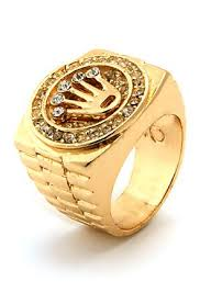 gold mens rings images Men 39 s gold crown cz hip hop ring accessories pinterest gold jpg