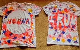 painted t shirts toddler style on as we grow