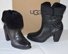 ugg womens mackie boots black ugg australia high 3 in and up s us size 7 ebay