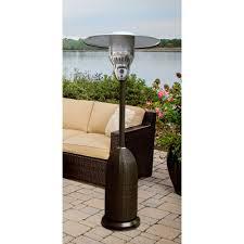 Patio Heater With Light 7 Ft Wicker Propane Patio Heater Han012blkw