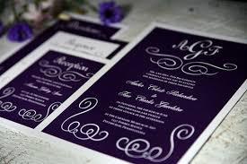 Purple Wedding Invitations Purple The Modern Bride Guide