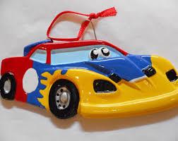 race car ornaments etsy