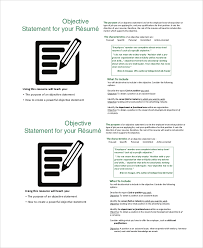 Example Of Resume Objective Resume by Sample Good Resume Objective 8 Examples In Pdf Word