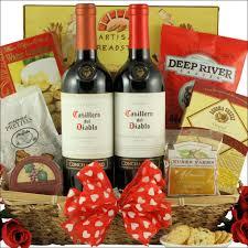 Wine Gift Basket Chilean Romance Valentine U0027s Day Wine Gift Basket Swank Gift Baskets