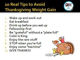 weight gain keep the pounds at bay on turkey day grit