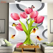 compare prices on 3d wall mural dancing online shopping buy low lovely rose dancing lake gold fish butterfly wallpaper for 3d wall living room natural mural rolls