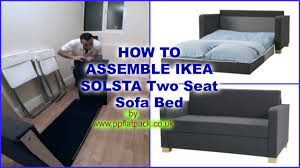 IKEA SOLSTA ULLVI Two Seat Sofa Bed Assembly YouTube - Sofa bed assembly