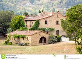 tuscan house typical tuscan house stock image image of seasonal cypress
