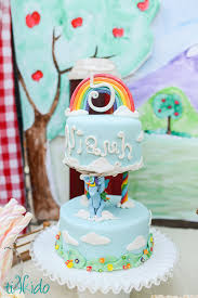 how to make an easy rainbow gum paste cake topper for a my little