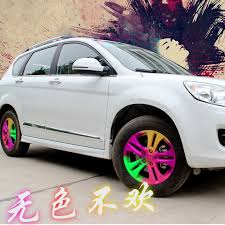 solid intervet car body spraying film changed color wheel modified