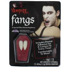 Halloween Dracula Makeup by White Vampire Dracula Fangs Caps Teeth With Adhesive