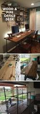 100 Diy Pipe Desk Plans Pipe Table Ideas And Inspiration by Best 25 Wood Office Desk Ideas On Pinterest Diy Wood Desk