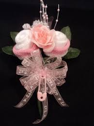 baby sock rose corsage baby shower gift it u0027s a boy or ribbon