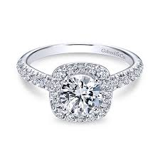 halo rings images White gold halo ring halo engagement rings halo rings gabriel co jpg