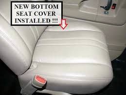 Van Seat Upholstery 2003 2014 Chevy Express Van Vinyl Seat Cover Driver Bottom Tan
