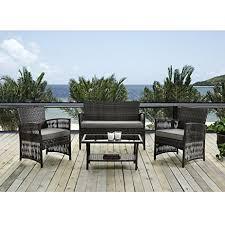 amazon com patio furniture dining set 4 pcs garden outdoor indoor