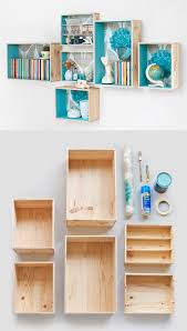 Wooden Shelf Building by Best 25 Box Shelves Ideas On Pinterest Shelf Ideas Diy