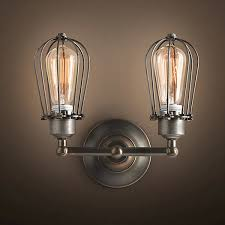 wire light bulb cage rh type double wire cages wall l edison light bulb fixture cage