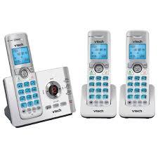 vtech cordless phone plus 2 handsets 17550 officeworks