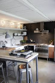 industrial kitchen ideas kitchen small industrial kitchen with iron island also metal