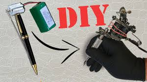 how to make a mini tattoo gun tattoo machine tutorial youtube
