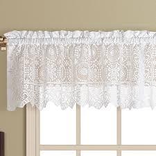 new rochelle lace tier window treatment