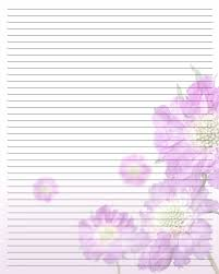 free writing paper templates floral lined printable stationary diy fonts printables floral lined printable stationary stationery templatespurple flowerswriting paperfree