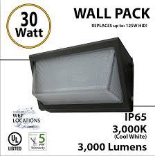 metal halide wall pack light fixtures 30w led wall pack fixture 3000lm 5500k ip65 ul ledradiant