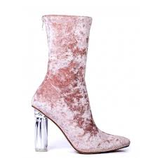 s shoes boots heels dip it low pink velvet boots with perspex heels 160 brl liked