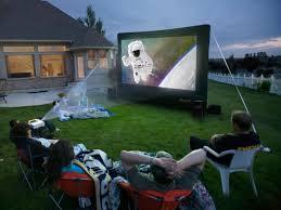 outdoor diy backyard movie theater backyard theater systems