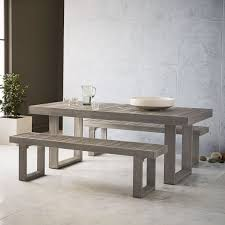 Weathered Wood Dining Table Weathered Gray Dining Table