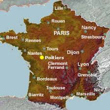 map of poitiers poitiers travel and tourist information in
