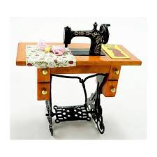 Sewing Machine With Table Black Sewing Machine Table Dollhouse Miniature
