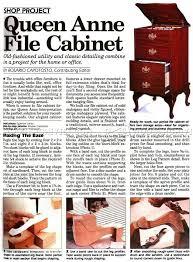 Queen Anne Office Furniture by Queen Anne File Cabinet Plans U2022 Woodarchivist