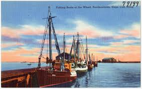 file fishing boats at the wharf provincetown cape cod mass