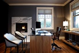 Contemporary Gray Home Office Designs Decorating Ideas - Best home office designs
