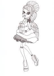 free printable monster high coloring pages frankie sweet 1600