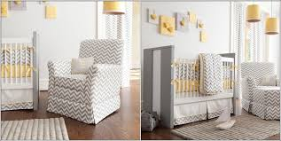 Grey And Yellow Nursery Decor by Baby Nursery Decor Combining Chevron Patterns Yellow And Grey