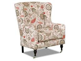 Wingback Accent Chair Klaussner Chairs And Accents Edenton Wingback Accent Chair With