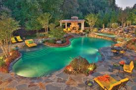 Backyard Pool House by Beautiful Home Swimming Pools With Waterfallscontemporary Pools In