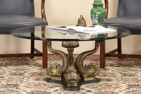 Maitland Smith Coffee Table Sold Maitland Smith Unsigned Bronze Koi Fish U0026 Glass Coffee Or