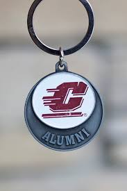 alumni chain alumni flying c circle key chain the cmu bookstore