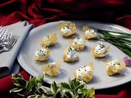 cheese baskets parmesan cheese baskets filled with goat cheese mousse