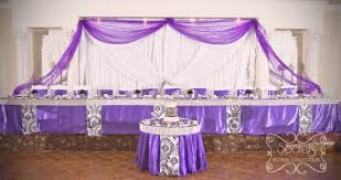 purple wedding decorations featured on four weddings canada secrets floral collection