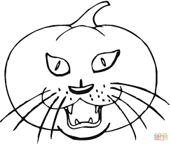 pumpkin cat bat coloring free printable coloring pages
